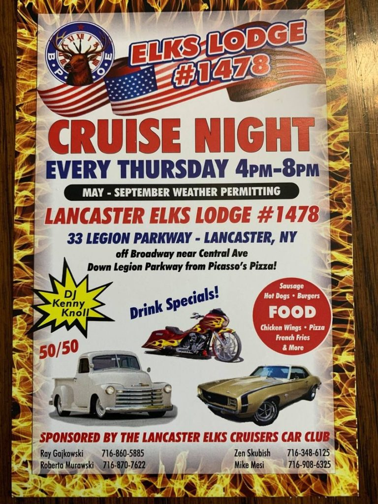 Elks Lodge #1478 Thursday Cruise Nights