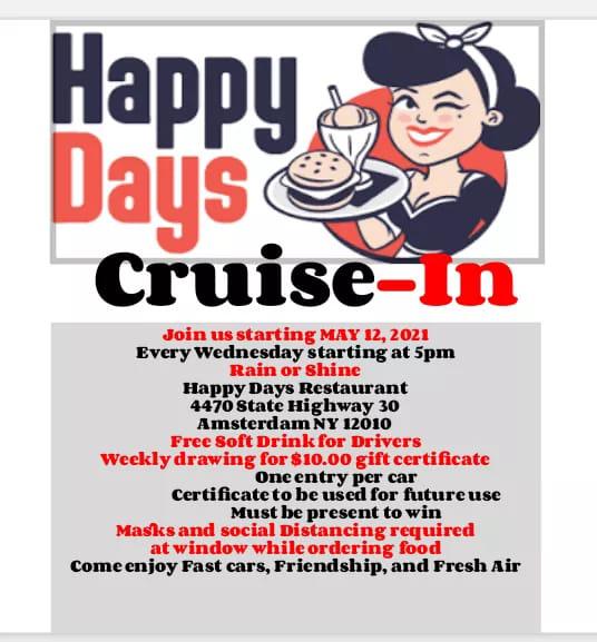 Happy Days Wednesday Cruise-ins