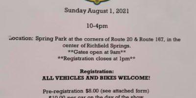 Richfield Springs Lions Club 40th Annual Car Show