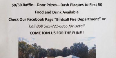 BIRDSALL FIRE DEPARTMENT CAR, TRUCK & BIKE CRUISE IN & SHOW