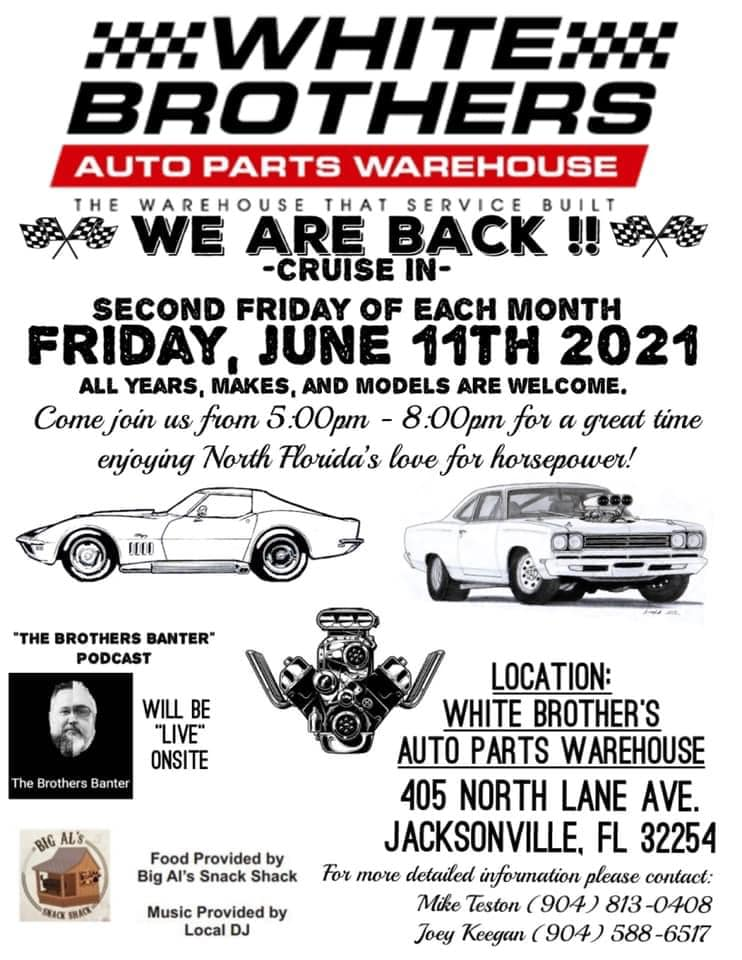 White Brothers Auto Parts Monthly Meet