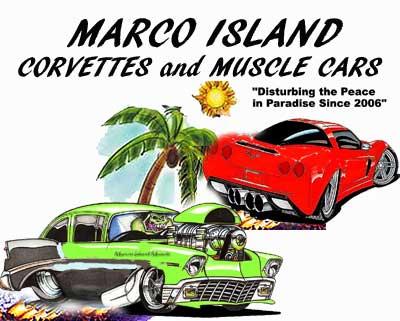 Marco Island Corvettes & Muscle Car Club cruise in