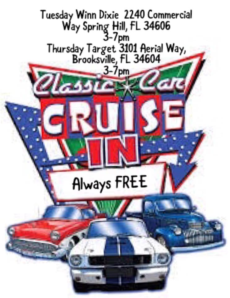 Spring Hill Classic Car Tuesday Cruise In
