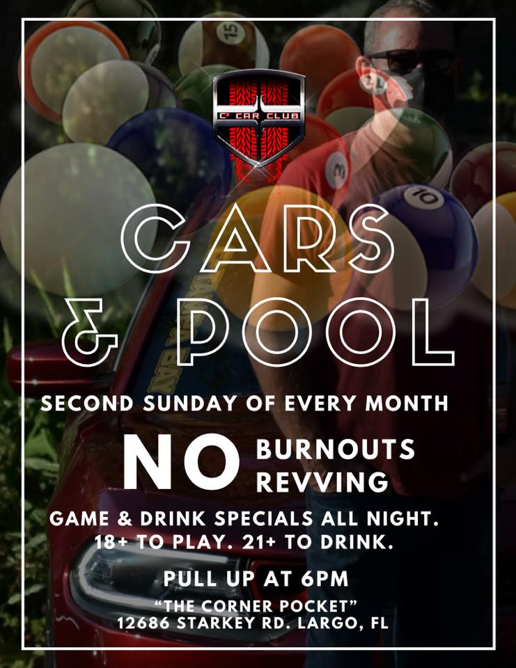 Cars & Pool: Monthly Car Meet