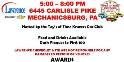 Car Show @ Lawrence Chevrolet hosted by Toys of Time Kruzers 2021