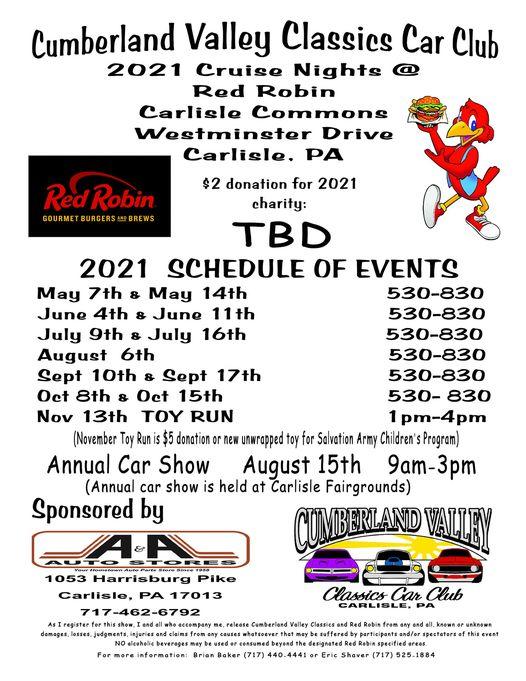 Cumberland Valley Classics Car Club Cruise Night 2021