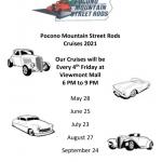Pocono Mountain Street Rods Cruises 2021