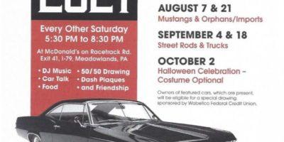 Washington Cruisers Car Club Saturday Cruise