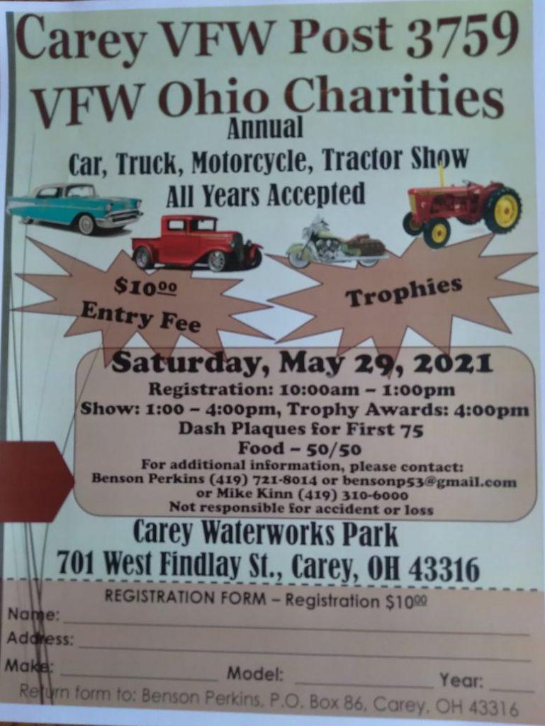 Carey VFW Post 37591 Annual Car Show