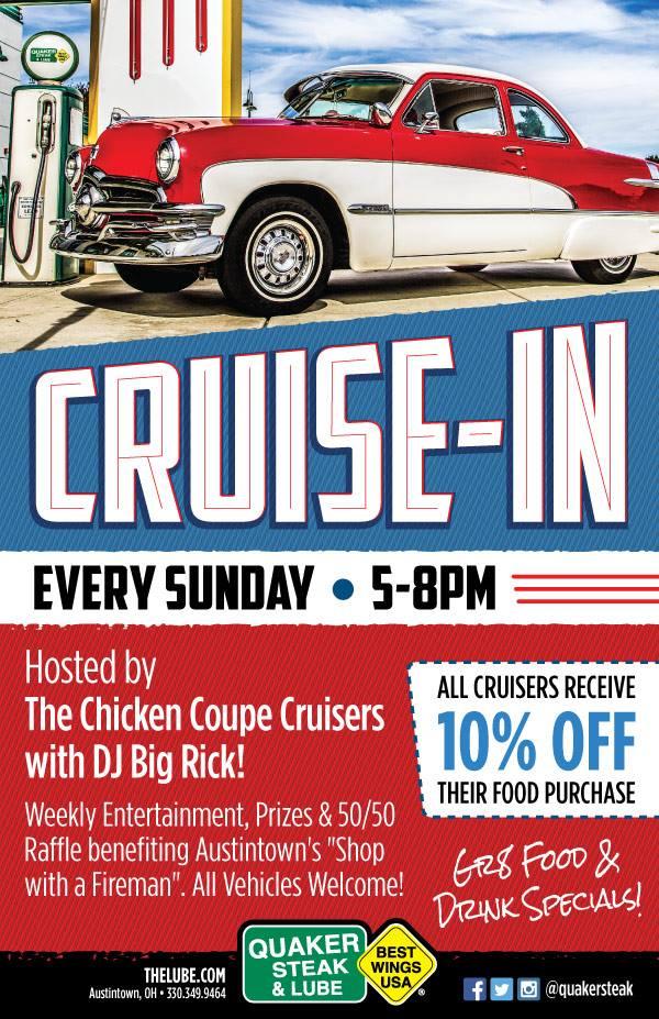 Car Cruise-In at Austintown Quaker Steak & Lube