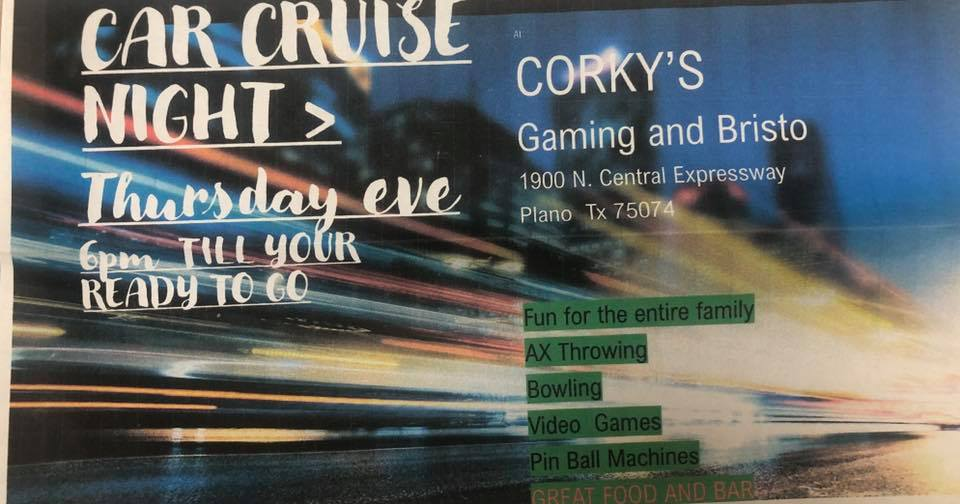 Cruise Night at Corky's Plano