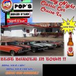 Pop's Burger Stand Weekly Thursday night cruise in