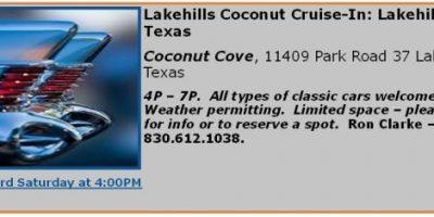 Lakehills Coconut Cruise-In