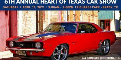 6th Annual Heart of Texas Car Show Benefit & Swap Meet