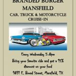 Branded Burger Car, Truck & Motorcycle Wednesday Night Cruise In