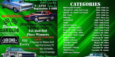 Raceway Car Club Show in Tyler, Texas