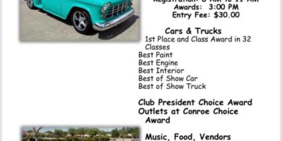 Conroe Cruisers 5th Annual Father's Day Weekend Car & Truck Show